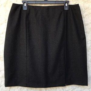 NWT Jones New York Charcoal Wool Skirt Sz16